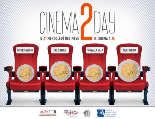 Cinema2Day, mercoledì 10 maggio ancora al cinema con 2 euro