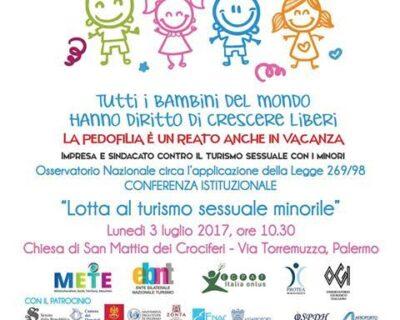 """""""Lotta al turismo sessuale con minori"""", conferenza istituzionale a Palermo"""