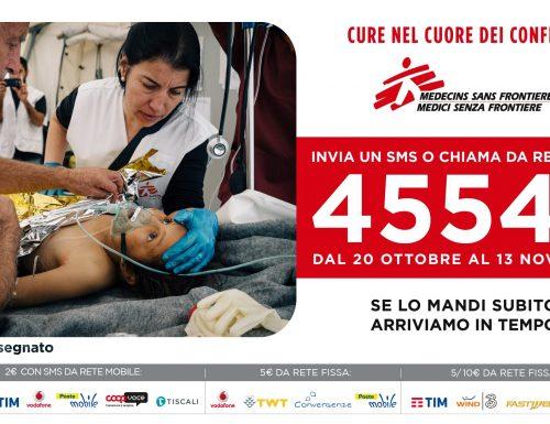 """""""Cure nel cuore dei conflitti"""", l'sms solidale per sostenere l'azione medico-umanitaria di MSF"""