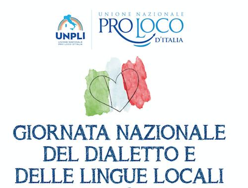 """Cultura e tradizioni, domani la """"Giornata nazionale del dialetto e delle Lingue Locali"""""""