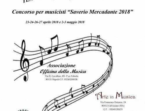"""Concorso per musicisti """"Saverio Mercadante 2018"""", quando la musica è aggregazione sociale"""