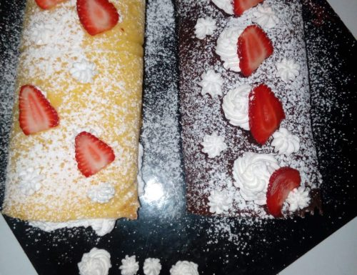 Swiss roll fragole e panna