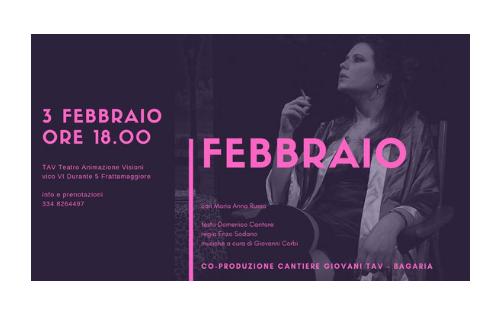 """""""Febbraio"""", al TAV Teatro di Frattamaggiore la storia di una prostituta"""