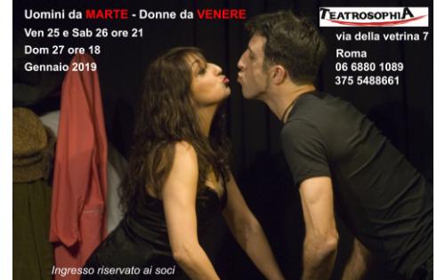 """Al Teatrosophia """"Uomini da Marte, Donne da Venere"""""""