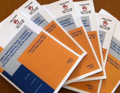 Il primo Rapporto sugli incidenti stradali mortali nel periodo 2013-17 sulla S.S. 106 in Calabria
