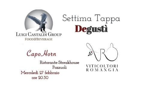 """""""Degustì"""", a Pozzuoli (Ristorante Capo Horn) la settima tappa del tour degustativo enogastronomico"""