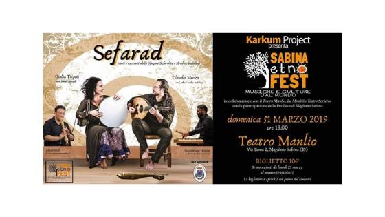 Musica Serfardita e Sufi Magrebina, Karkum Project presenta il Sabina EtnoFest