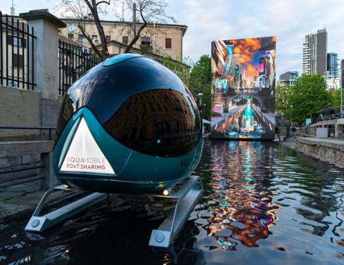 """""""Aqua"""", al Salone del Mobile di Milano un omaggio al genio di Leonardo"""