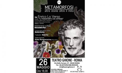 """""""Metamofosi – Altre Storie Oltre il Mito"""", Enrico Lo Verso al Teatro Ghione"""
