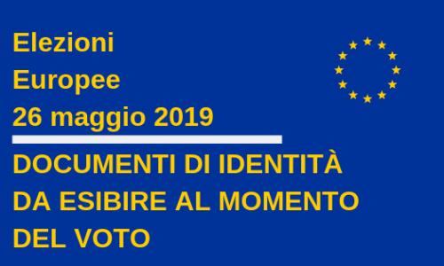 Elezioni europee 2019: i documenti di identità da esibire al momento del voto