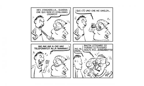 """La vignetta: """"Chi chiami, zingarella?"""""""
