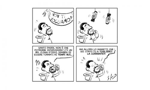 """La vignetta: """"Son tornati i tempi bui…"""""""