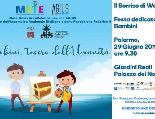"""""""I Bambini tesoro dell'umanità"""", a Palermo l'evento organizzato da Mete ONLUS"""