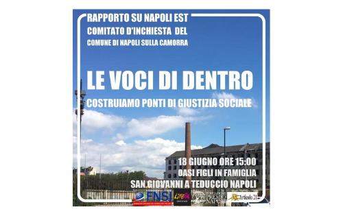 A San Giovanni Teduccio (NA), il rapporto del Comitato d'inchiesta sulla camorra