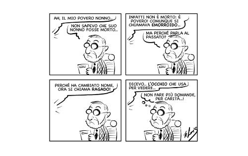 """La vignetta """"Silenzio, per carità…!"""""""