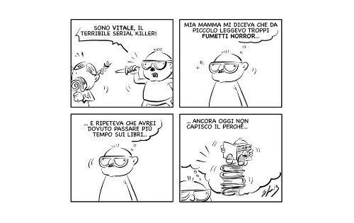 """La vignetta: """"Basta fumetti horror!"""""""