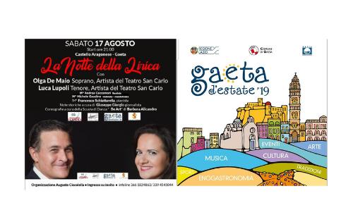 """""""La notte della lirica"""", al Castello Aragonese di Gaeta (LT) è protagonista il Bel Canto"""