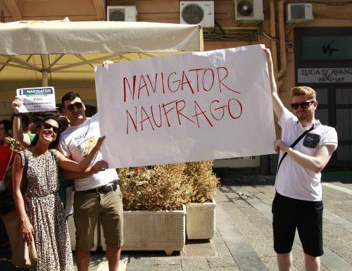 Navigator in Piazza, la protesta contro la Regione Campania