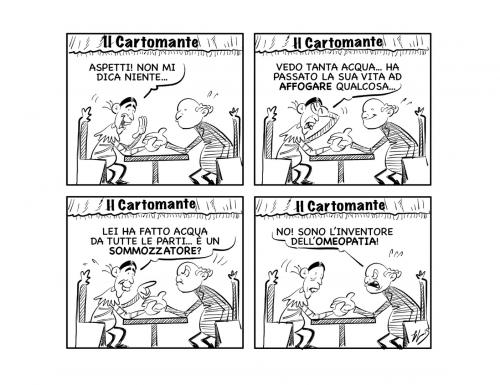 """La vignetta: """"Fuoco, fuoco… acqua!!"""""""