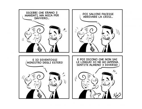 """La vignetta: """"Il misintro delgi ertesi…"""""""