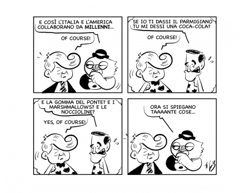 """La vignetta: """"Interessante collaborazione millenaria…"""""""