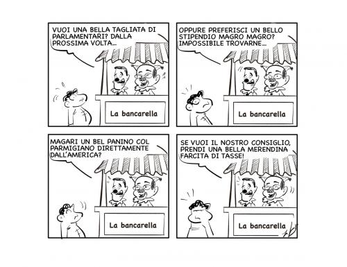 "La vignetta: ""Bancarelle…"""