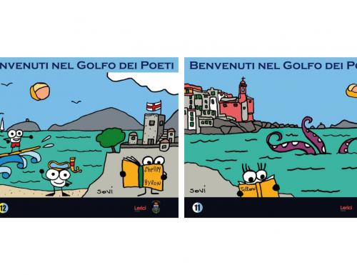 """Lerici (SP): Carlo Bacci, """"Sovi"""" e la cartellonistica di promozione turistica che non ti aspetti"""