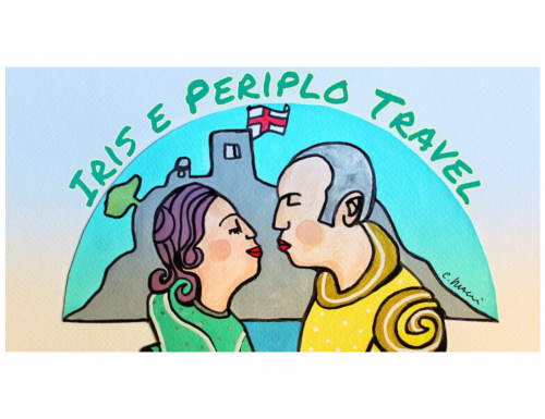 """Il nuovo logo per """"Iris e Periplo Travel"""" ad opera di Carlo Bacci"""