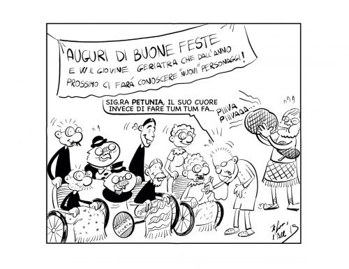"La vignetta: ""Buone feste e ci rivediamo al 2 gennaio!"""