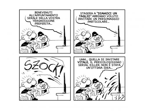 """La vignetta: """"Benvenuti a """"diamoci un taglio""""…"""""""