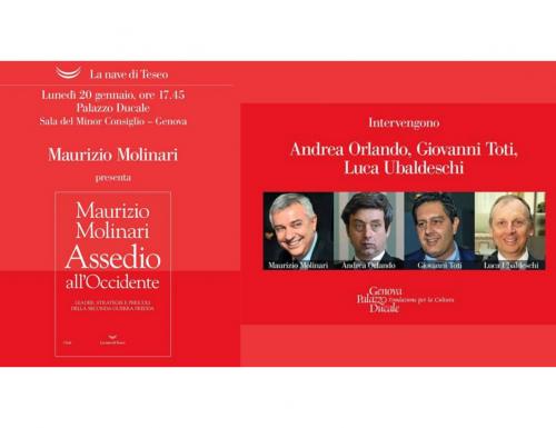 """""""Assedio all'occidente"""" di Maurizio Molinari, lunedì la presentazione a Genova"""