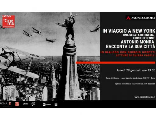 """Alla Casa del Cinema """"Viaggio a New York"""", Antonio Monda racconta la sua città"""