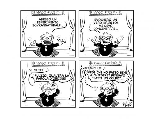 """La vignetta: """"Voci dall'aldilà…"""""""