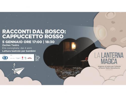 """""""La Lanterna Magica"""", il 6 gennaio al Nuovo Teatro Sancarluccio """"Racconti dal bosco"""" di Zaches Teatro"""