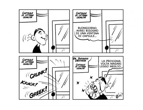 """La vignetta: """"Un buon caffè…"""""""