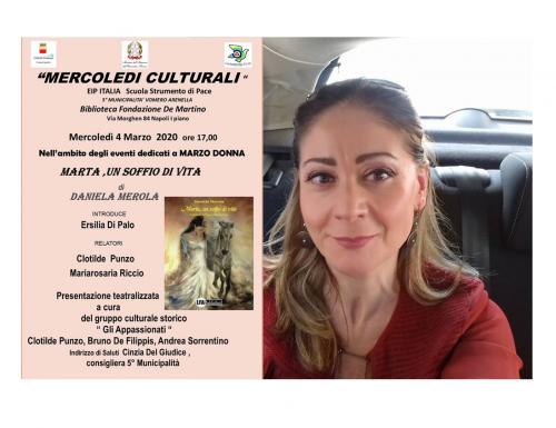 """Napoli, """"Marta, un soffio di vita"""" di Daniela Merola alla Biblioteca Fondazione De Martino"""