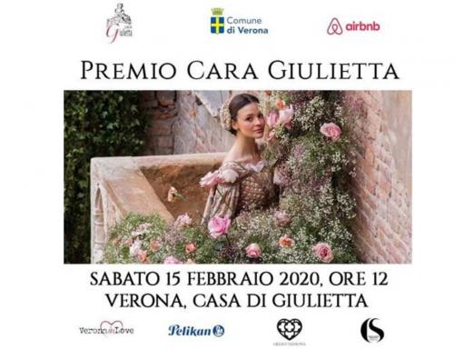 Verona si conferma città dell'amore, domani il Premio Cara Giulietta