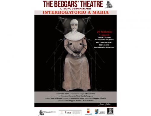"""The Beggars' Theatre presenta """"Interrogatorio a Maria"""" di Ri.te.na. Teatro"""