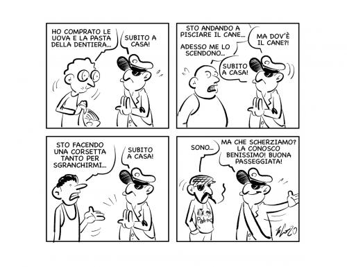 """La vignetta: """"Ma lei è una persona d'onore!"""""""