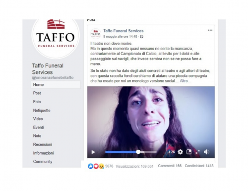 """Taffo Funeral Services, """"Il Teatro Non Deve Morire"""" (VIDEO)"""