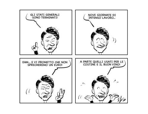 """La vignetta: """"Stati generali finiti! E ora…"""""""