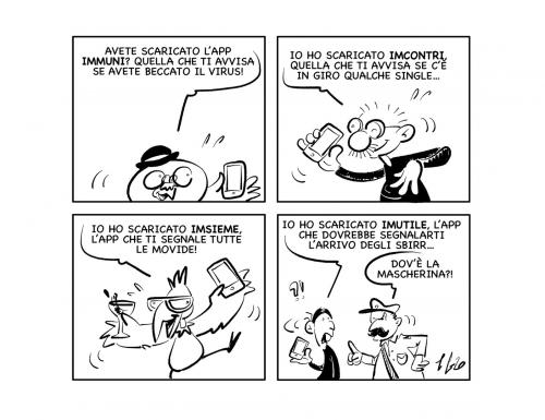 "La vignetta: ""Scaricata Immuni?"""
