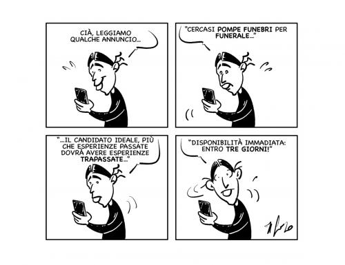 """La vignetta: """"Annunci…"""""""