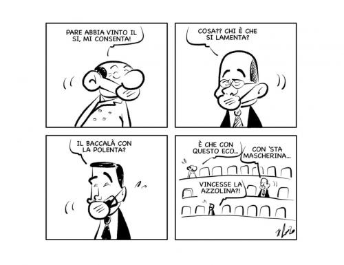 """La vignetta: """"Effetto eco"""""""