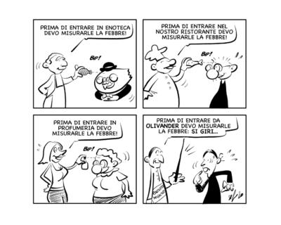 """La vignetta: """"Originali, questi termometri…"""""""