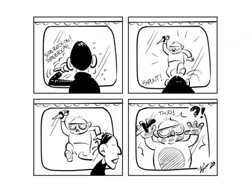 """La vignetta: """"Occhio allo specchio…"""""""