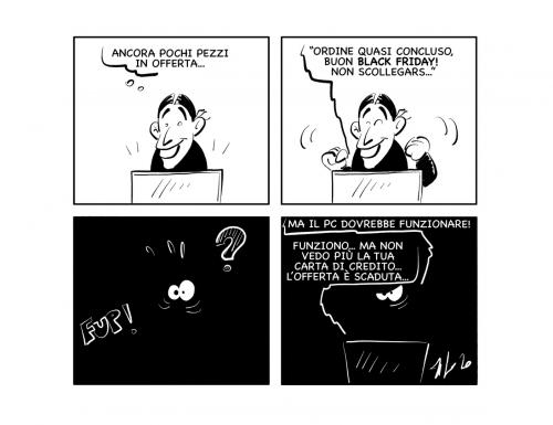 """La vignetta: """"Buon venerdì… nero"""""""