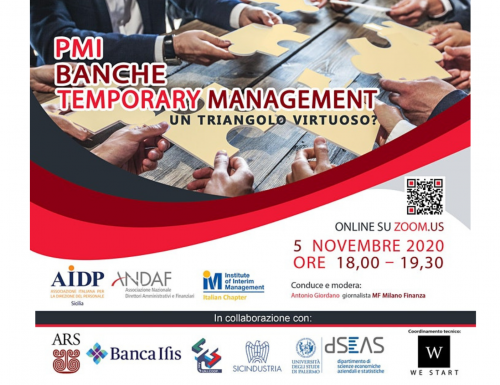 "WeStart: ""PMI, Banche, Temporary Management – Un triangolo virtuoso?"""
