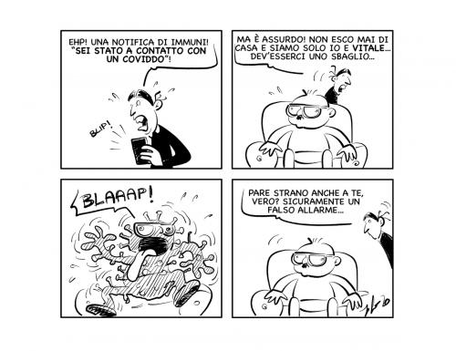 """La vignetta: """"Malefiche notifiche…"""""""