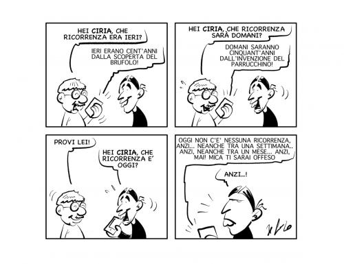"La vignetta: ""Ricorrenze…"""